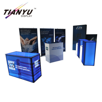 Quick Installation Aluminium Stoff Standard-Ausstellung Display System Messestand 10X10