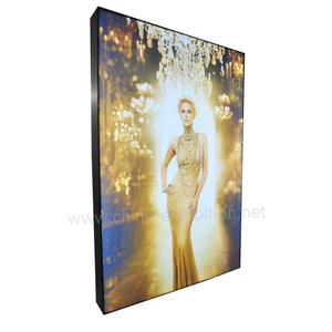 Rabatt Markenshop Backlit Frameless LED Wand befestigter Werbung Light Box