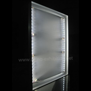 Doppelseitige quadratische Form Brett Alurahmen Tension Light Box Photo Frame Werbung Light Box